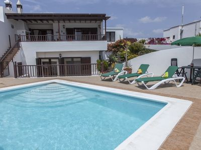 Photo for Heated Private Pool with sea views - 3 bedroom villa with WiFi, AC.