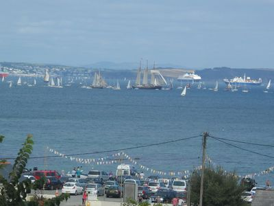 View of theTall Ships Regatta 2014 from the balcony.