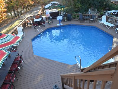 Photo for DUCK CREEK RETREAT - Remodeled 6 BR, 5 BA, Sleeps 32, Private Pool, Hot Tub!!!