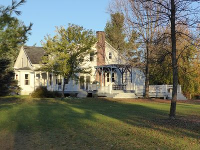 Photo for Idyllic 19th century farm house with 150 acres in easy reach of Montreal