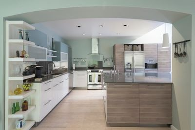 Overview of the large remodeled kitchen