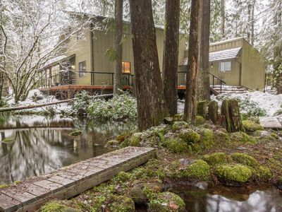 Photo for Supercabin , WiFi , Cozy Mountain Retreat Near Sandy River
