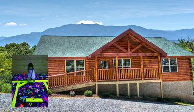 Photo for Incredible Mountain Views, Private Blacklight mini-golf, Great location, ZIPLINE