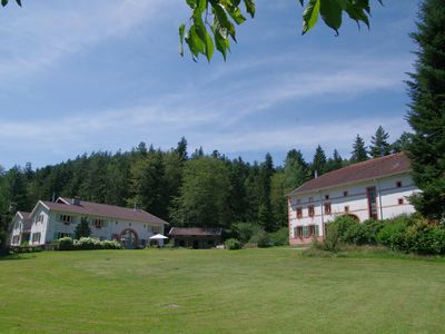 Photo for Marmonfosse, for 14 or 20 people, in the open nature of the Vosges with its own lake