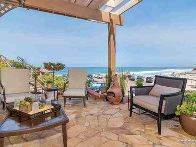 Photo for Magnificent Beachfront Home, Luxury Decor, Directly On Moonlight Beach