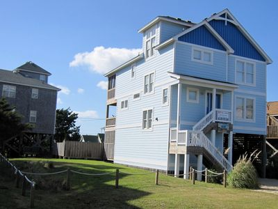 Photo for 'Blue Heaven' Hatteras Village ~private pool, hot tub, game room, screened porch