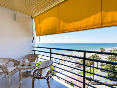 Photo for Renovated studio with stunning sea views