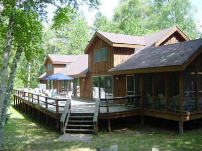 Photo for Secluded Lodge on Webb Lake - Private Tennis Court, Hot Tub