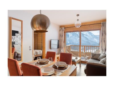 Photo for Appart Champagny La Plagne-Ski-in ski-out, Wifi, linen and cleaning included