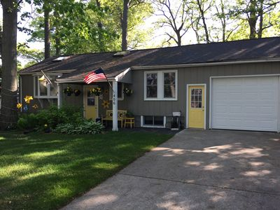 Photo for Charming Water View Cottage close to Holland State Park