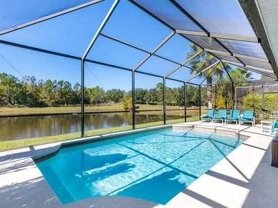 Photo for PRIVATE VILLA WITH SECURITY GATE, ON SUNSET LAKES-KISSIMMEE. 10MIN TO DISNEY :)