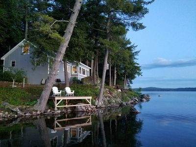 Photo for A perfect place for a couples getaway!  Picturesque Lakefront cottage.
