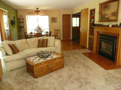 Upper Family room with fire place