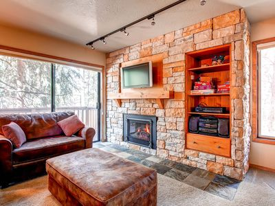 Photo for 7th Night Free! Wi-Fi, Gas Fireplace, Walk to Peak 9 Lift & Main St, Parking