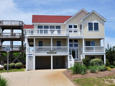 Photo for A Shore Pleasure: 3 story deck with awesome views, your own private pool and hot tub.