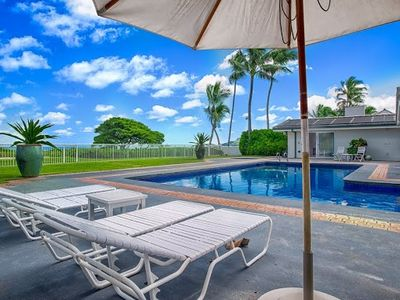 Photo for Fabulous Luxury Kailua Beachfront -Private Pool,  Hot Tub, Free Wi-fi, & Parking