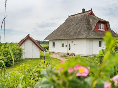 Photo for Thatched, Baltic Sea, sauna, fireplace, unobstructed view of the backwaters