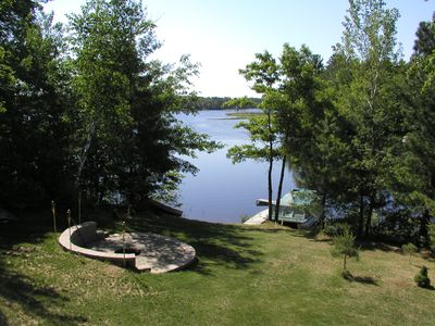Lake view and fire pit