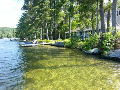 Photo for 150' LAKEFRONT Home plus Cottage on GREAT EAST LAKE !