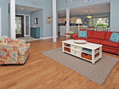 Photo for Dog-friendly vacation home with lagoon view & pool access - close to the beach