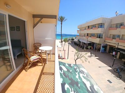 Photo for Es Pujols: Holiday Apartment Centrally Located on the Pedestrian Square of Es Pujols
