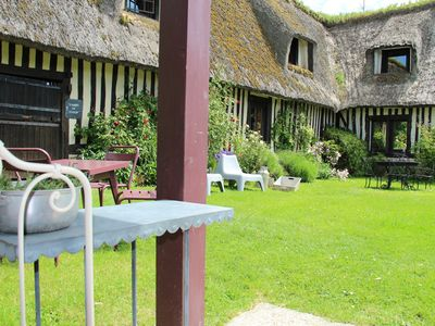Photo for Gites in NORMANDY with swimming pool and SAUNA near Honfleur 8 ROOMS