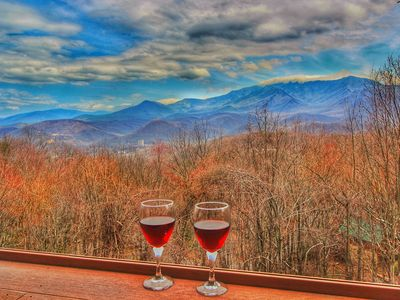 Photo for Mt LeConte View! 2/2 Cabin 5 minutes to Downtown!! Game Room, Jacuzzi Tub, Wi-Fi