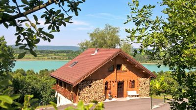 Photo for A Clairvaux-Les-Lacs: Suite of 35m2 overlooking the lake ... lakes and waterfalls!