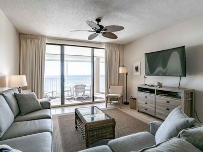 Photo for Beachfront Condo in Orange Beach. Private Balcony, Master Bedroom with Beach Views. Beachfront Pool & Indoor Pool