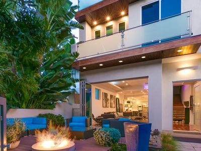 Photo for Venice Beach Villa with Serene Fire Pit and Rooftop Deck