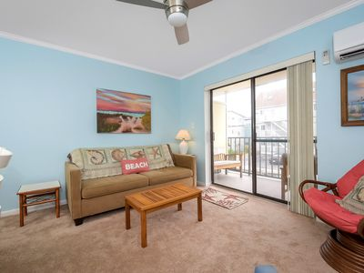 Photo for Lovely 1 Bedroom condo steps to beach with outdoor pool!