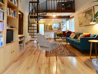 Photo for Quiet Sunlit Townhome with Loft, on bikepath