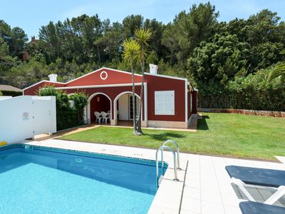 Photo for This 3-bedroom villa for up to 6 guests is located in Cala Galdana and has a private swimming pool,