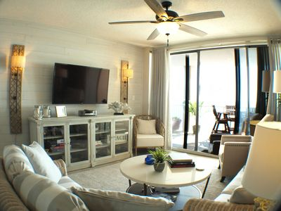 Photo for Blue Water 1502 Beach Front: Top Floor! King/King/2Fulls/Sofa-WIFI Sleeps 10