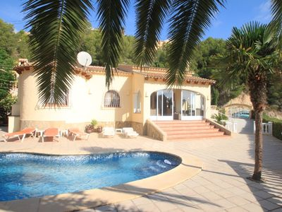 Photo for Alldo - hill side with private pool in Moraira