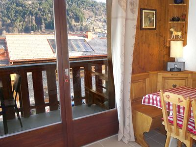 Photo for Morzine Studio , central location, studio with 'cabine', sleeps 4. WIFI. Parking