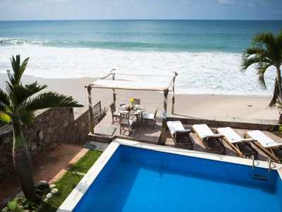 Photo for Luxury Beachfront Villa in Best Area of P.Vallarta-Private Pool & Staff Included