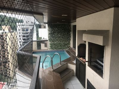 Photo for Guarujá Pitangueira apartment with private pool on the balcony