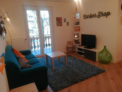 Photo for Beautiful apartment in the center with garden and barbecue