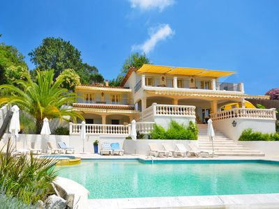 Photo for Luxurious Mediterranean villa with private pool and jacuzzi, air conditioning and sparkling views