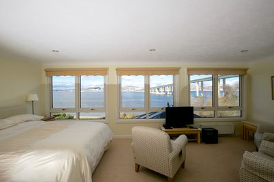 A fabulous view as you enter the double room.