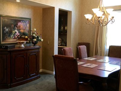 Formal dining room for 8
