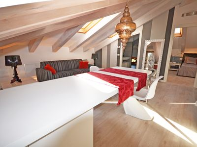 Photo for Attic apartment located in historical building.