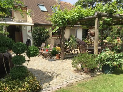 Photo for character house between land and sea with large landscaped garden and landscaped