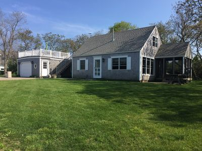 Photo for Vintage Cape Cod Beach House, Magnificent Bay views, Walk to Beach
