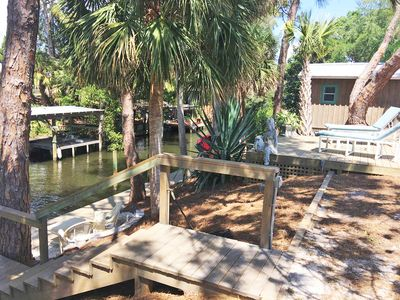 Photo for Lovely Creekside Setting - Dock, Tandem Kayak, Boat Ramp & Gulf Access