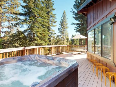 Photo for NEW LISTING! Contemporary & comfortable home w/private hot tub, fireplace & WiFi