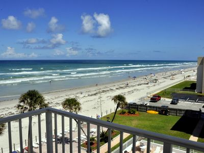Photo for Updated!! Direct Ocean Front/Corner Unit!  NoDriveBeach of New Smyrna !!