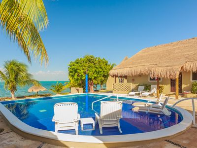 Photo for Beachfront Air Conditioned Villa Guesthouse with Heated  Pool