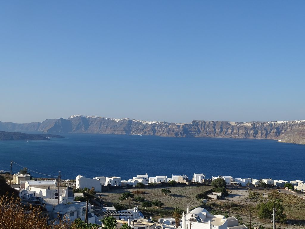 You will enjoy the view of the whole island, overlooking at the famous  caldera - Akrotiri